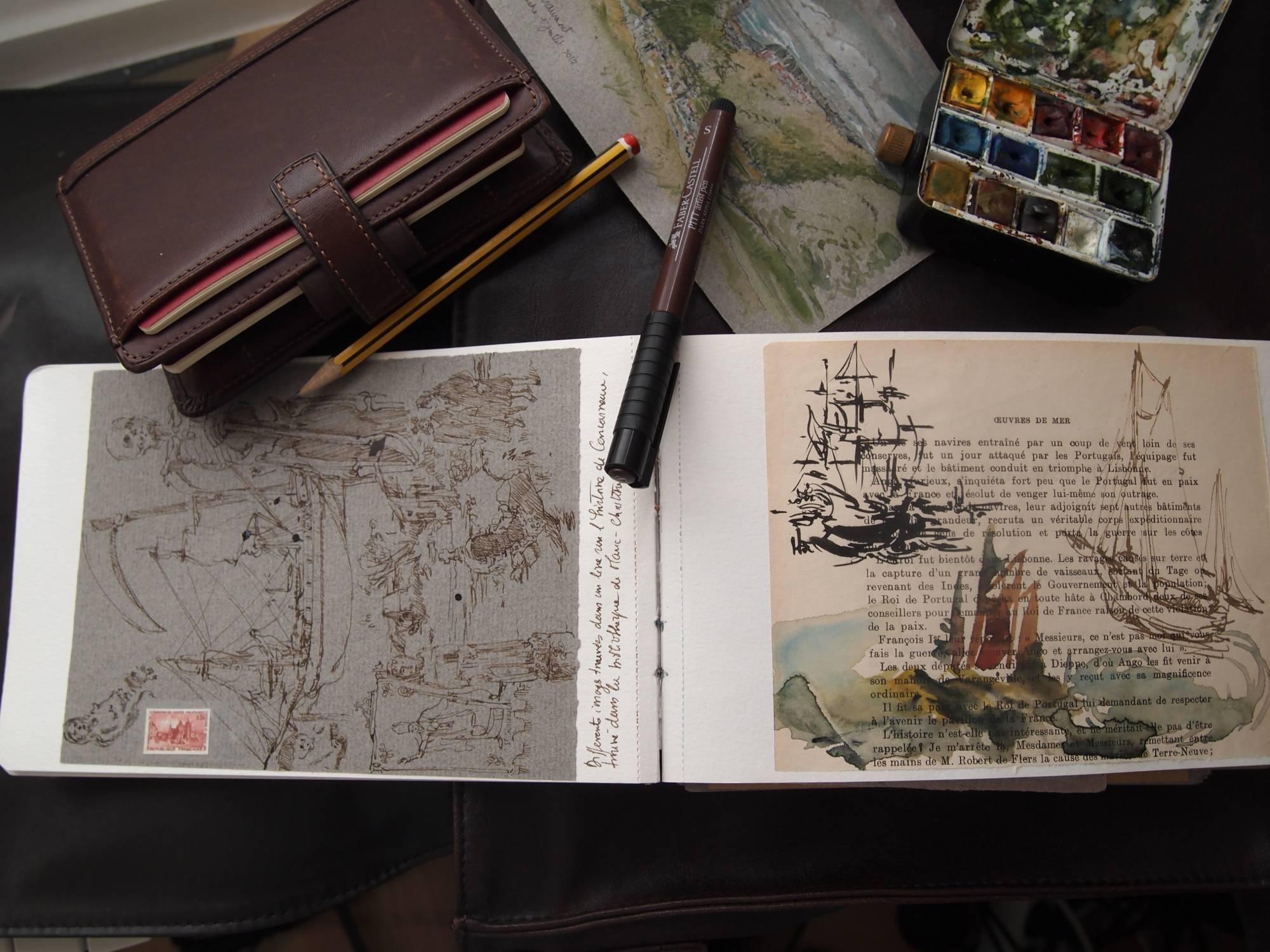 Mille façons de réaliser votre carnet de voyage.