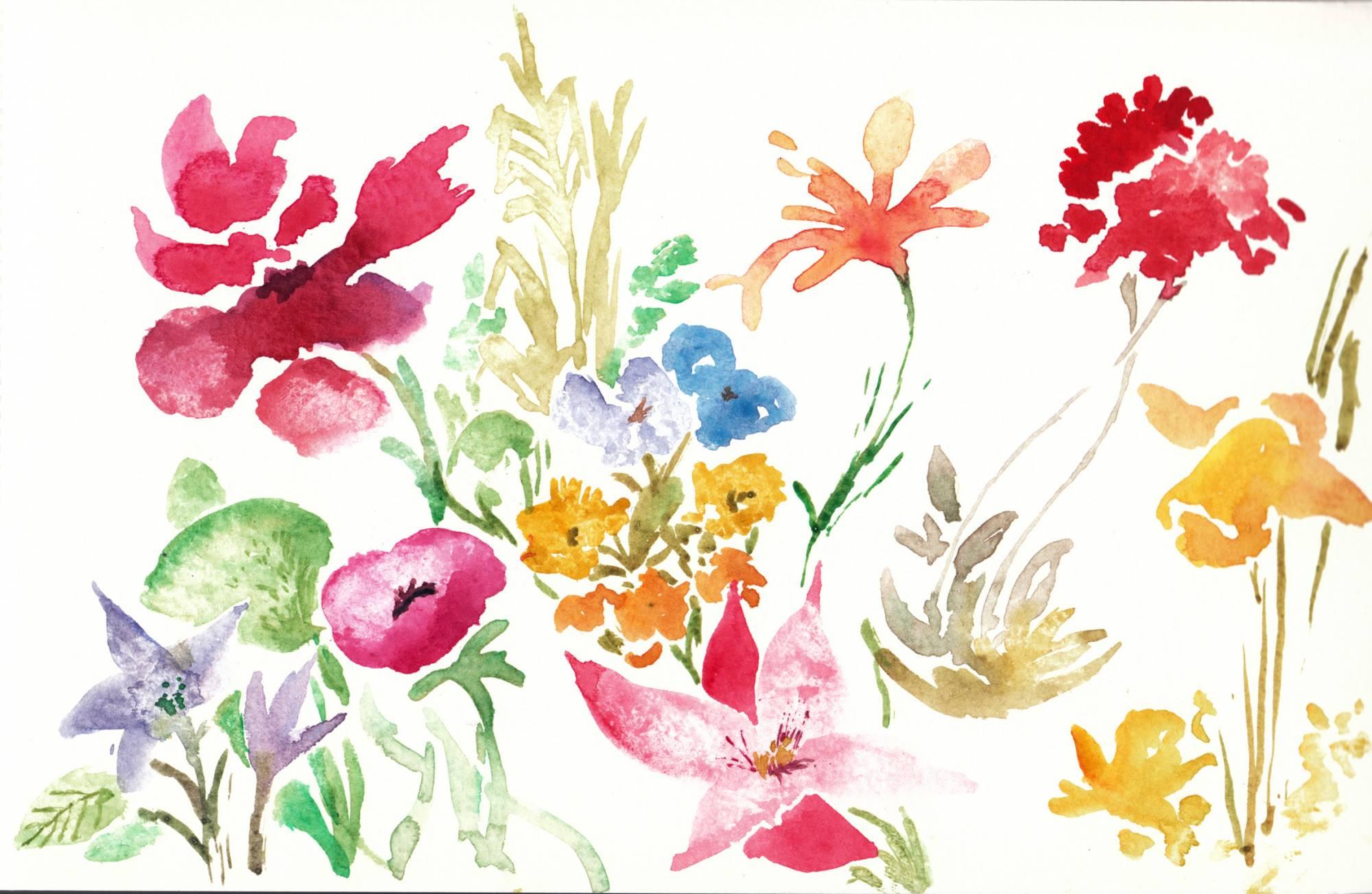 Comment dessiner des fleurs à l'aquarelle