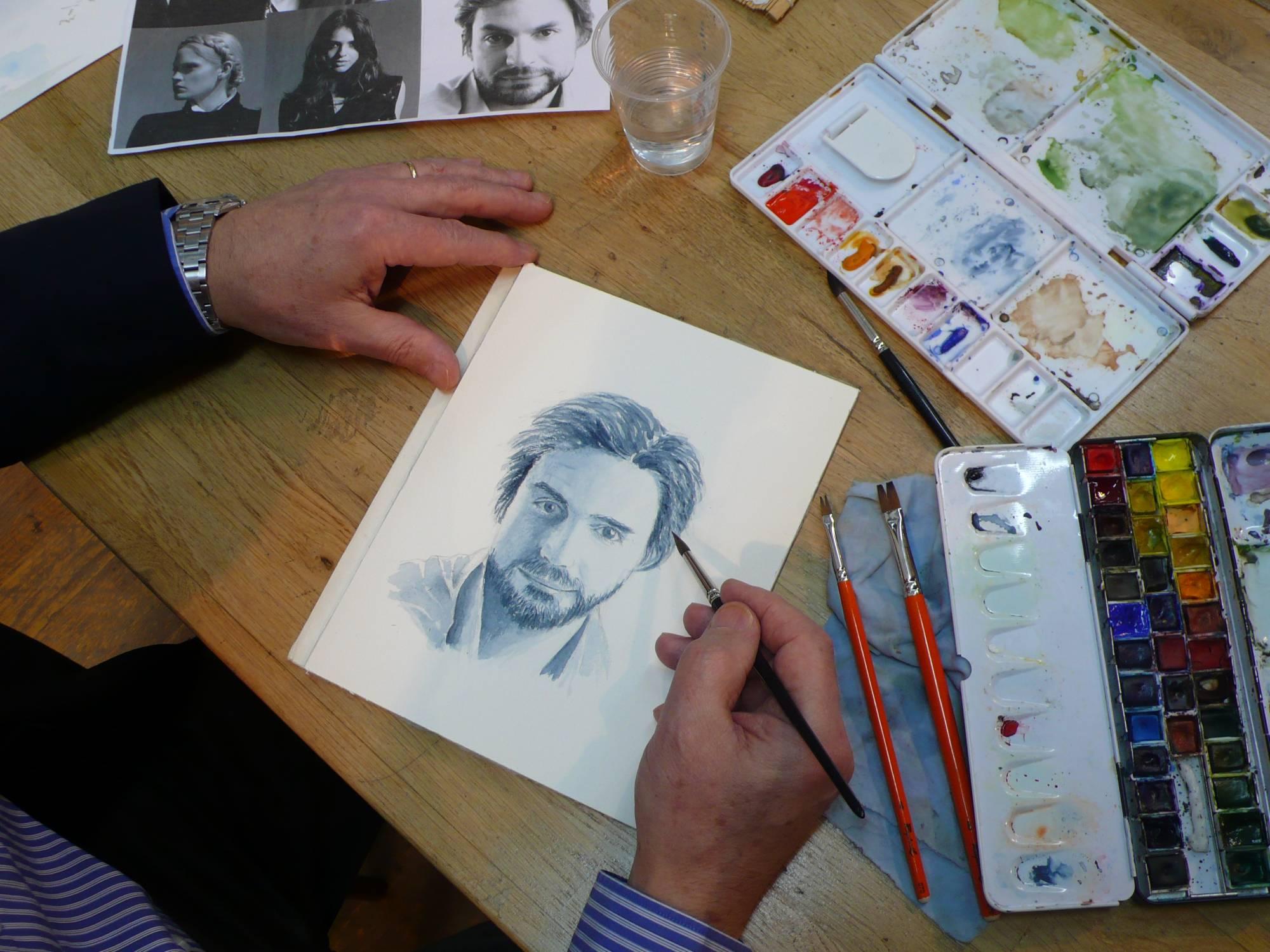 Comment réaliser un portrait à l'aquarelle.